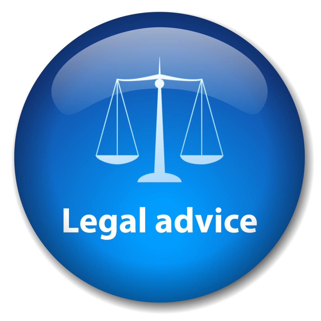 LEGAL ADVICE Web Button (scales of justice law trial rights)